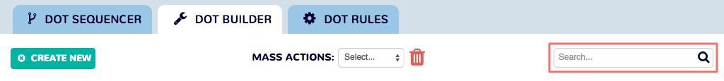 Dot Builder - Search Bar