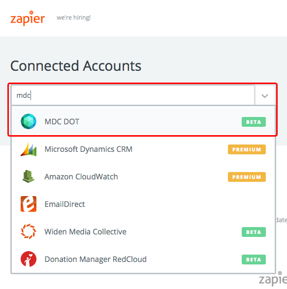 zapier-choose-mdc-connected-accounts